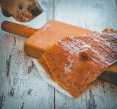 Pastila 1 de mandarine de reniflement de chien image libre de droits