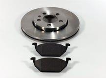 Pastilhas dos freios e disco do freio Imagens de Stock
