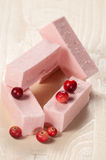 Pastille with cranberry. Close up shot, local focus Royalty Free Stock Images