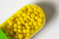 Pastilles de capsule macro Photos libres de droits
