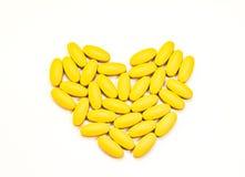 Pastilles médicales de capsules de comprimés de pilules Images stock