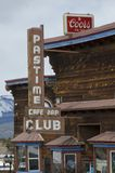 Pastime Club in Leadville, Colorado royalty free stock photography