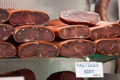 Pastirma. Istanbul, die Türkei. Stockbilder