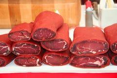 Pastirma, turkish air dried meat Stock Image