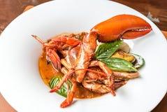 Pastis Grilled Halved Lobster Tails Stock Images
