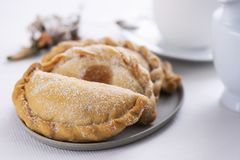 Pastissets, typical pastries of Catalonia, Spain Stock Photography