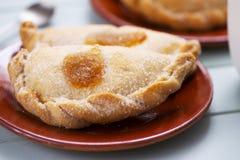 Pastissets, typische gebakjes van Cataloni?, Spanje stock foto's