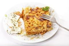 pastitsio еды греческое традиционное Стоковое Изображение RF