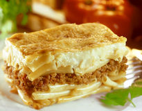 Traditional pastitsio Royalty Free Stock Images