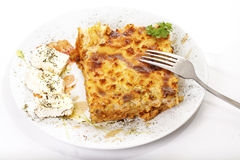 Pastitsio, alimento tradicional grego Imagem de Stock Royalty Free