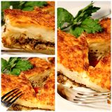 Pastitsio close up collage Stock Photography