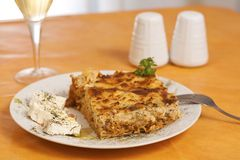 Pastitsio, greek food Royalty Free Stock Images