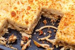 Pastitsio - Greek layered, baked pasta dish Stock Image