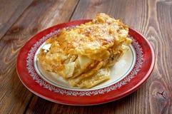 Pastitsio -  a Greek and Mediterranean baked pasta Stock Photo