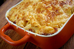 Pastitsio -  a Greek and Mediterranean baked pasta Stock Photography