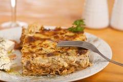 Pastitsio, griechische Nahrung lizenzfreies stockbild