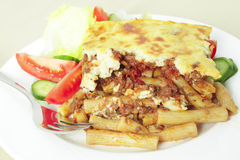 Pastitsio meal deep focus Royalty Free Stock Image