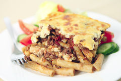 Pastitsio meal shallow depth of field Stock Photo