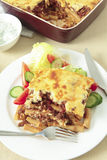 Pastitsio meal vertical Stock Image