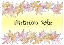 pastle листьев осени Стоковые Изображения RF