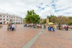 Narino square Pasto Colombia stock photo