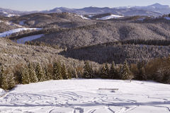Pasto da montanha do inverno Foto de Stock Royalty Free