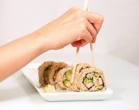 Pasto dei sushi immagine stock