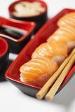 Pasto dei sushi di nigiri di serie dei sushi Fotografie Stock Libere da Diritti