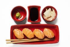 Pasto dei sushi di nigiri di serie dei sushi Fotografia Stock