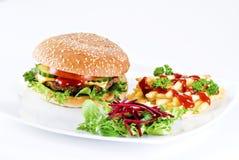 Pasto del beefburger Fotografia Stock