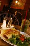 Pasto del Burrito immagine stock