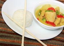 Pasto del curry del pollo Fotografie Stock Libere da Diritti
