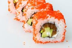 Pasto del Giappone del rotolo del giapponese dei sushi fresco Fotografia Stock
