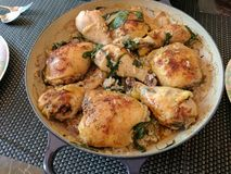 Pasto del pollo fotografia stock