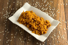 Pasto del riso Fotografia Stock Libera da Diritti