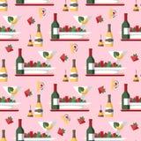 Pasto del ristorante e modello senza cuciture di vettore delle bevande royalty illustrazione gratis