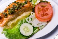 Pasto dell'insalata e del pollo Fotografie Stock Libere da Diritti