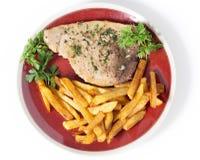 Pasto della bistecca di pesce spada Fotografie Stock