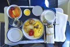Pasto della prima colazione di linea aerea Fotografia Stock