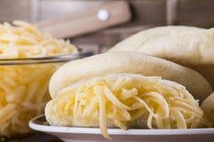 Pasto di Arepas Immagini Stock