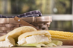 Pasto di Arepas Fotografia Stock