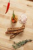 Pasto di Cevapcici sopraelevato Fotografia Stock