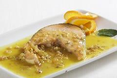 Pasto di color salmone gastronomico di lusso Fotografia Stock