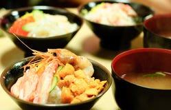 Pasto giapponese dei frutti di mare Fotografia Stock