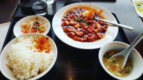 Pasto giapponese del pranzo Fotografia Stock Libera da Diritti