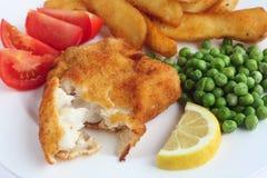 Pasto impanato del filetto di pesce fotografia stock
