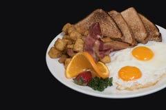 Pasto riscaldato sul posto della prima colazione del paese fotografie stock