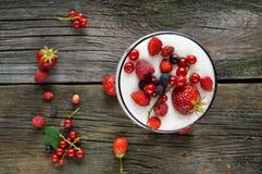 Pasto sano con frutta Fotografia Stock