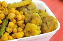 Pasto stabilito del vegetariano indiano in buona salute Fotografia Stock