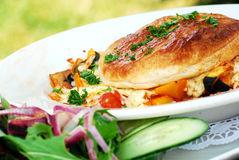 Pasto vegetariano Fotografia Stock